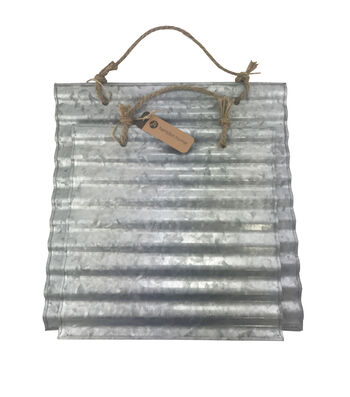 Hampton Home Wavy Galvanized Decor 2pk