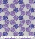 Snuggle Flannel Fabric-Purple Gray Burst