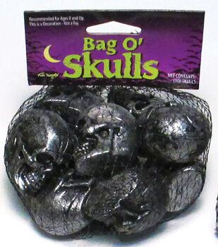 Maker's Halloween 10 pk Scattered Skulls-Metallic