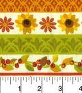 Harvest Cotton Fabric -White Stripes