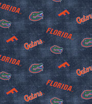 "University of Florida Gators Flannel Fabric 42""-Distressed Logo, , hi-res"