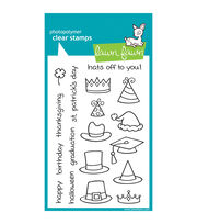 "Lawn Fawn Clear Stamps 4""X6""-Hats Off To You, , hi-res"