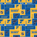 St. Louis Blues Fleece Fabric -Block
