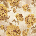 Premium Wide Cotton Fabric-Yellow Large Floral