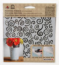 FolkArt Small Laser Cut Painting Stencil-Swirl Background