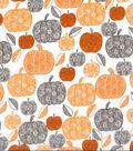 Harvest Cotton Fabric -Scroll Pumpkins