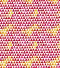 Keepsake Calico Cotton Fabric-Watercolor Triangle Pink Orange