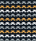 Quilter\u0027s Showcase Fabric -Gray Linear Floral on Navy