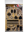 Find It Trading Oriental Amy Design 24 pk Clear Stamps