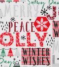 Christmas Cotton Fabric 43\u0022-Holiday Joy Words