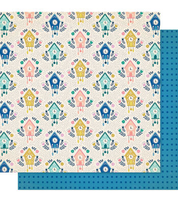 """Maggie Holmes Willow Lane Double-Sided Cardstock 12""""X12""""-Happy Times"""