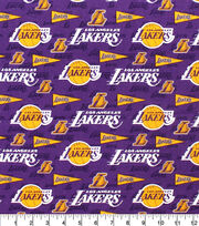 Los Angeles Lakers Cotton Fabric-Pennants, , hi-res
