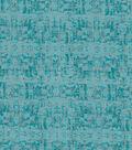 Keepsake Calico Cotton Fabric-Silver Foil Shapes Teal