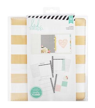 Heidi Swapp Large Memory Planner-Gold Foil Stripes