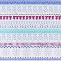 Snuggle Flannel Fabric -Purple Snowflake Stripes