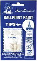 Aunt Martha\u0027s Ballpoint Paint Tubes Replacement Tips-6/Pkg