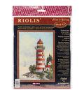 RIOLIS 8.25\u0027\u0027x11.75\u0027\u0027 Stamped Cross Stitch Kit-Lighthouse