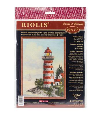 RIOLIS 8.25''x11.75'' Stamped Cross Stitch Kit-Lighthouse