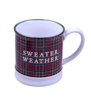 Handmade Holiday Christmas 16 oz. Stoneware Mug-Sweater Weather