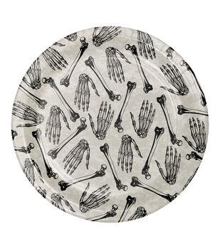 Maker's Halloween 8 pk 8.88'' Dinner Plates-Skull