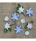 49 And Market Stargazers Paper Flowers 9/Pkg-Periwinkle