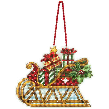 Dimensions Ornament Counted Cross Stitch Kit Sleigh