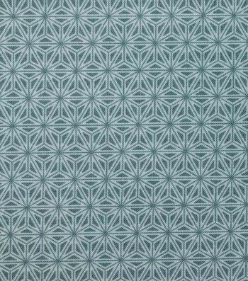 Asian Inspired Premium Cotton Print Fabric 44''-Teal Starburst