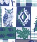 Blizzard Fleece Fabric 59\u0022-Navy Wilderness Patch