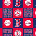 Boston Red Sox Fleece Fabric -Block