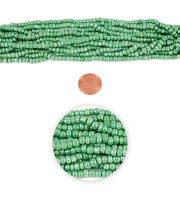 Blue Moon Strung Glass Seed Bead Hank,Light Green, , hi-res