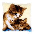 Vervaco Cushion Latch Hook Kit 16\u0027\u0027X16\u0027\u0027-Two Cats