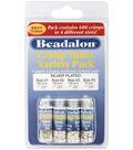 Beadalon Crimp Tube Variety Pack 600/Pkg-Silver Plated