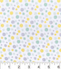 Nursery Flannel Fabric 42\u0022-Hayden Dot