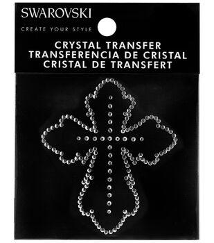 Swarovski Create Your Style Cross Crystals Iron-on Transfer