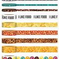 Park Lane Washi Tape Tube 9/Pkg-Food