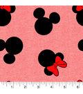 Disney Mickey Mouse Knit Fabric 58\u0027\u0027-Mickey & Minnie Heads