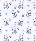 Nursery Flannel Fabric -Sweet Blue Bear