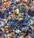 Novelty Cotton Photo Real Fabric 44\u0022-Rocks In Water