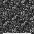 Novelty Cotton Fabric-Sketch Sewing Notions Black