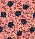 Quilter\u0027s Showcase Fabric -Desert Flower & Navy Floral