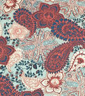 Simply Silky Print Peachskin Fabric -Warm Paisley