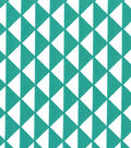 Quilter\u0027s Showcase Cotton Fabric-Triangles Teal/White