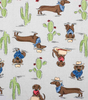 Super Snuggle Flannel Fabric-Southwestern Pup