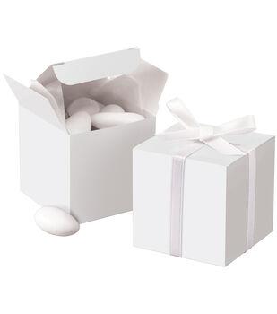 Square Box 100/Pkg-White