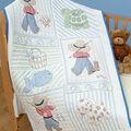 Stamped White Quilt Crib Top 40\u0022X60\u0022-Little Boys