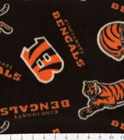 Cincinnati Bengals Fleece Fabric 58''-Tossed Print, , hi-res