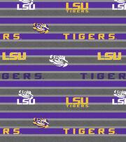 "Louisiana State University Tigers Fleece Fabric 58""-Polo Stripe, , hi-res"