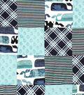 Nursery 3D Patchwork Fabric -Baby Whale