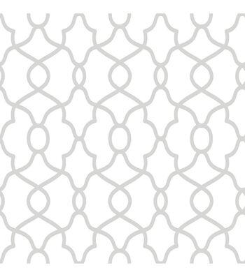 Wallpops NuWallpaper Peel & Stick Wallpaper-Clearly Cool Silver