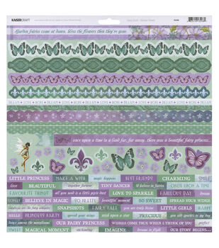 Kaisercraft Fairy Dust 12''x12'' Cardstock Stickers